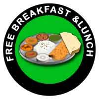 free breakfast & lunch